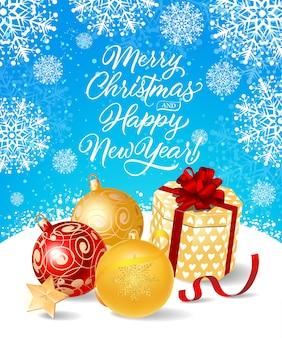 Noël et nouvel an lettrage festif