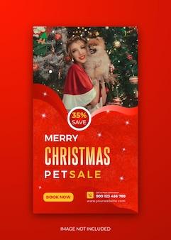 Noël nouvel an pet sale instagram story template design