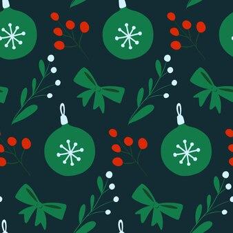 Noël nouvel an vecteur transparente motif répéter imprimer vacances d'hiver sur fond sombre
