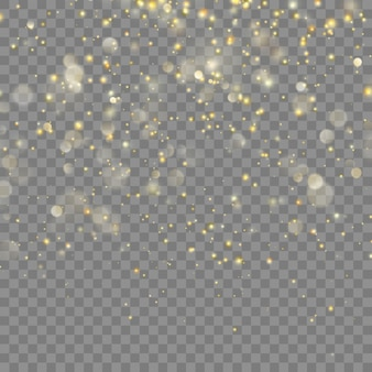 Noël de paillettes d'or. fond transparent uniquement dans