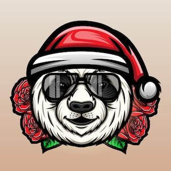Noël Panda Vecteur Premium
