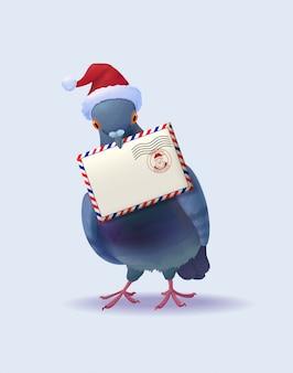 Noël père noël post pigeon