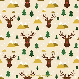 Noël rennes motif