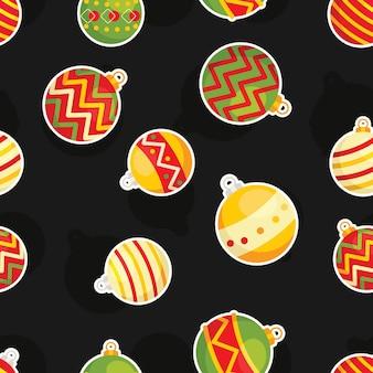 Noël sans soudure de fond avec des boules de Noël