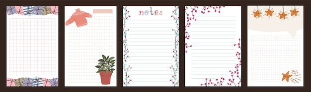 Noël vacances célébration journal bloc-notes lettre mignonne style scandinave