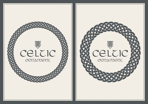 Noeud celtique tressé ornement de bordure de cadre. format a4
