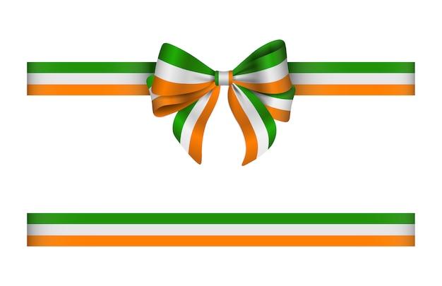 Noeud et ruban aux couleurs du drapeau irlandais