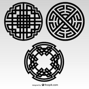 Noeuds celtiques éléments tribaux