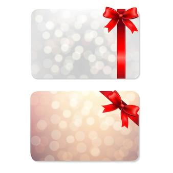 Nœuds et étiquettes cadeaux vierges,
