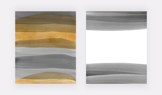 Noir avec des arrière-plans dorés à l'aquarelle