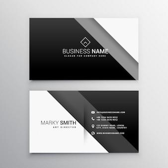 Noir et blanc carte de visite minimale
