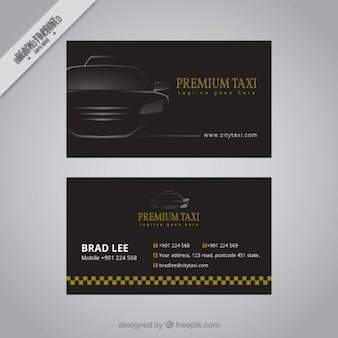 Noir carte de taxi