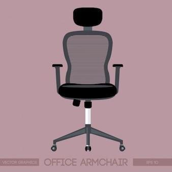 Noir chaise de bureau