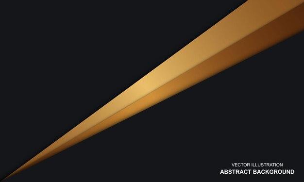 Noir avec fond abstrait luxe doré