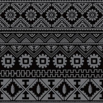 Noir natif américain motif ethnique thème vector art