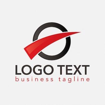Noir et rouge logo rond