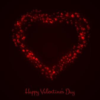 Noir valentines fond avec le coeur rouge