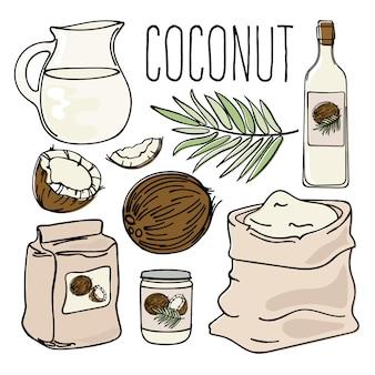 Noix de coco végétarienne régime naturel