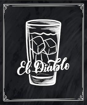 Nom du lettrage de la recette du cocktail.