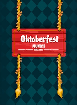 Nom de la planche de style bois oktoberfest
