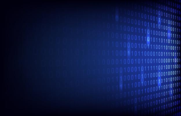 Nombre binaire abstrait avec fond de technologie de circuit