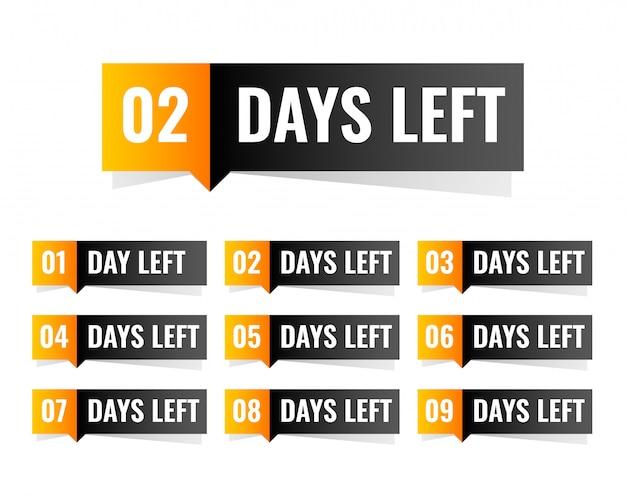 Nombre de jours restants pour la conception de l'autocollant
