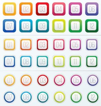 Nombre de puces numérotées de 1 à 12.