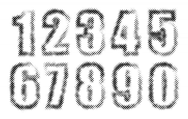 Nombres en pointillés