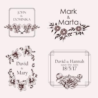 Noms de mariage avec des fleurs