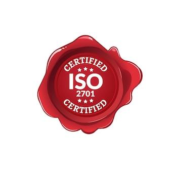 Norme iso 2701 certifiée. certificat d'étiquette iso seal