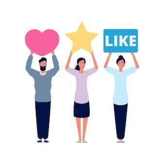 Note et avis. scores d'évaluation sociale, réponses émotionnelles médiatiques.