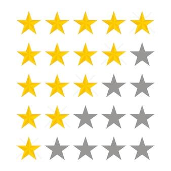 Note des étoiles