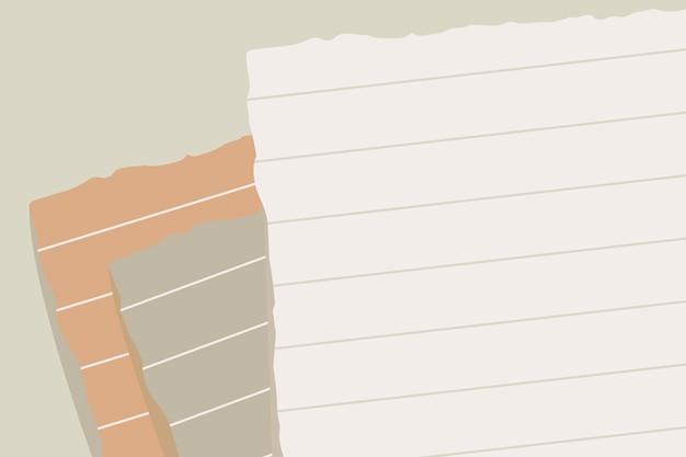 Note papier déchiré
