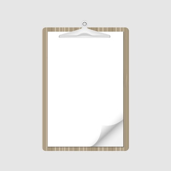 Note papier du presse-papiers pour le rapport sur les documents