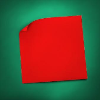 Note de papier réaliste bâton rouge