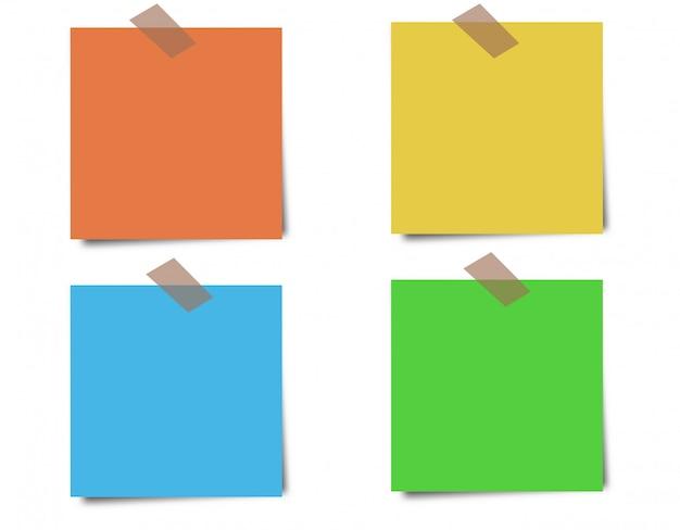 Notes autocollantes colorées