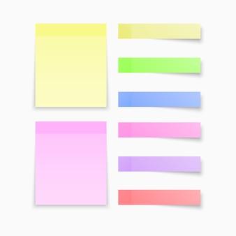 Notes autocollantes papiers colorés