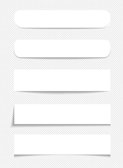 Notes autocollantes réalistes isolées avec une ombre réelle sur fond blanc. rappels carrés de papier collant avec des ombres.