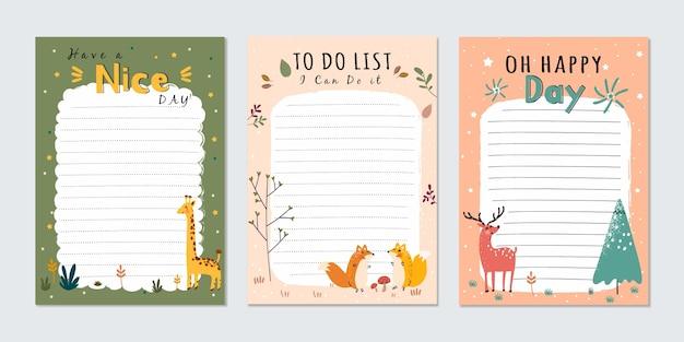 Notes et cartes d'album