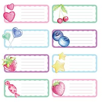 Notes collantes aquarelles