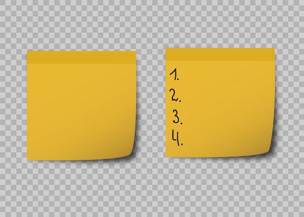 Notes collantes jaunes