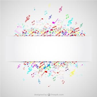 Notes colorées de musique vecteur de fond
