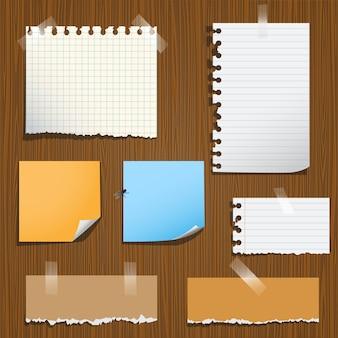 Notes papier