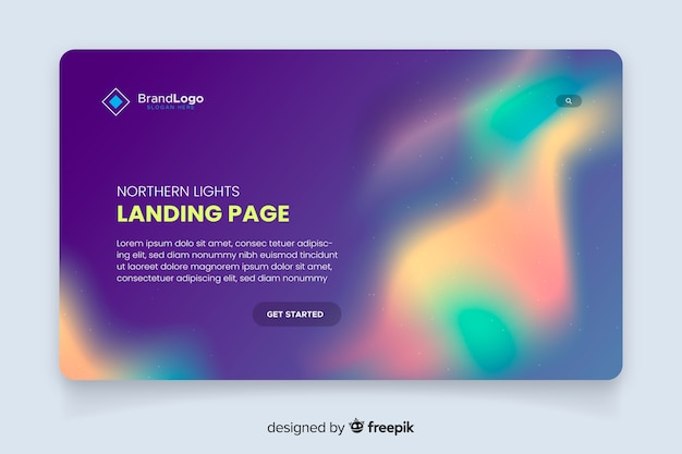 Nothern lights landing page