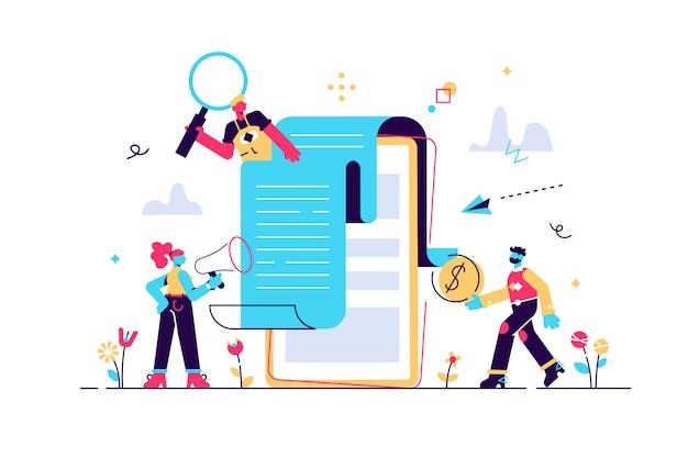 Notification de paiement de concept, conclusion du contrat. banque, illustration de paiement mobile électronique