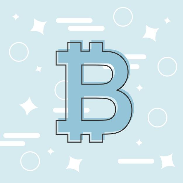Notion de bitcoins. soupir de logo de crypto-monnaie. l'argent numérique. chaîne de blocs, symbole de la finance. illustration vectorielle de style plat