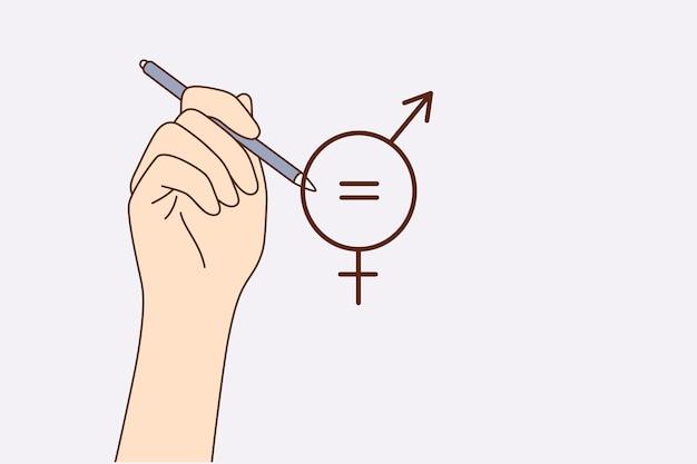 Notion d'égalité des sexes