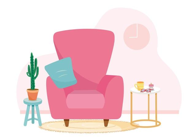 Notion de maison. conception d'intérieur. illustration de la conception web de la chambre