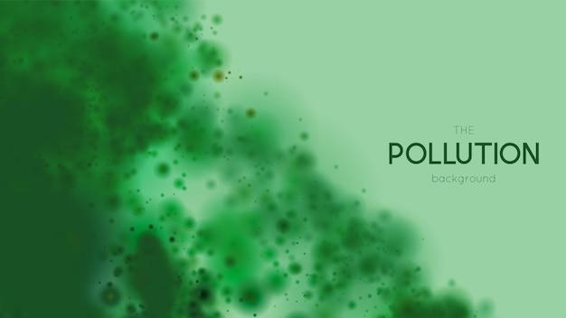 Notion de pollution marine. illustration de l'eau polluée. fond de dommages écologiques.