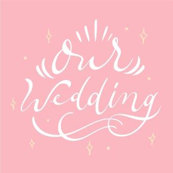 Notre lettrage de mariage avec des étincelles